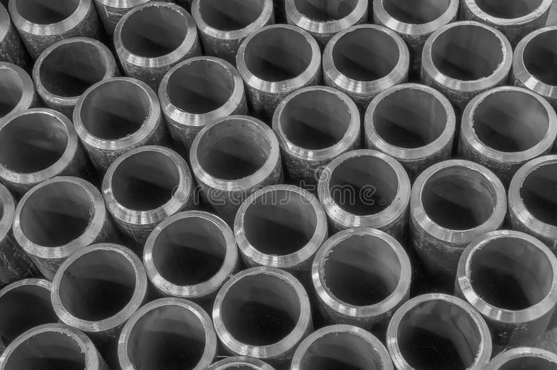 Pipes on black and white royalty free stock image