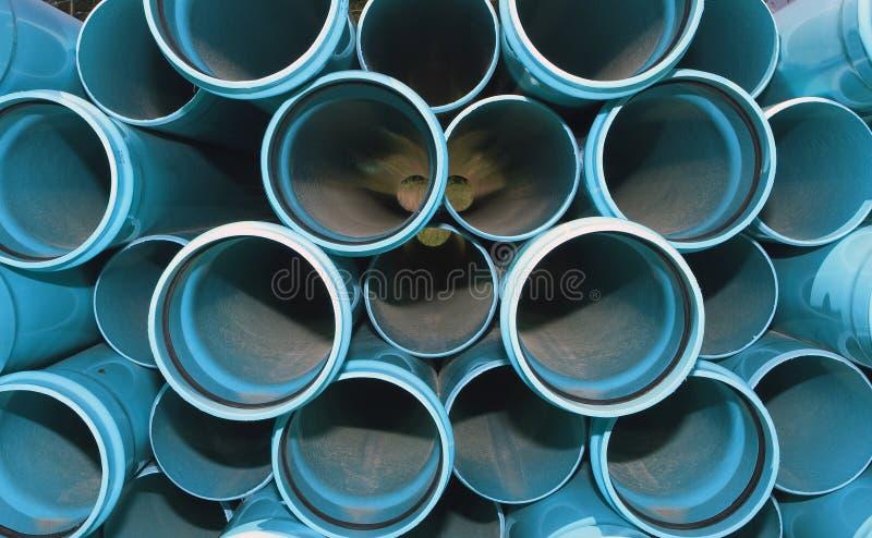 Pipes bleues photographie stock libre de droits