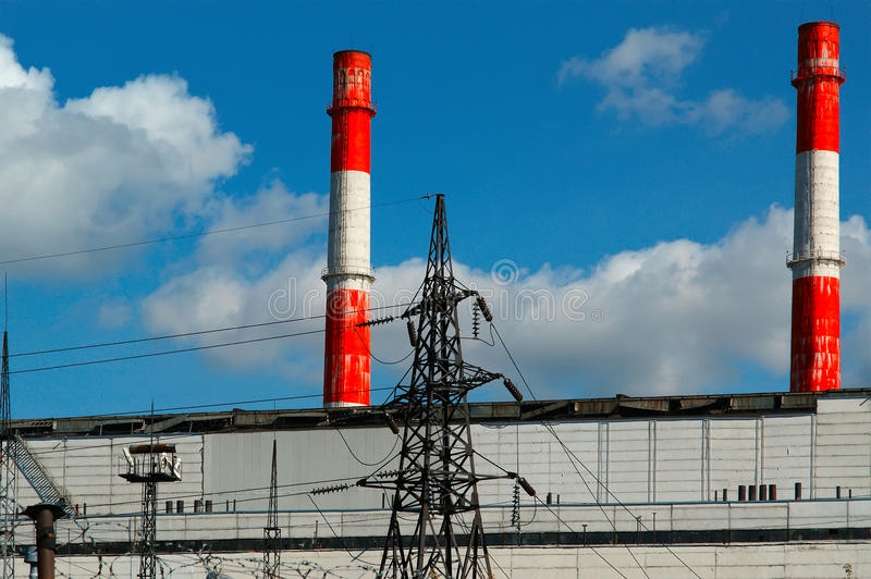 Download Pipes Of Coal  Burning Power Station Stock Image - Image of environment, pipe: 21484845