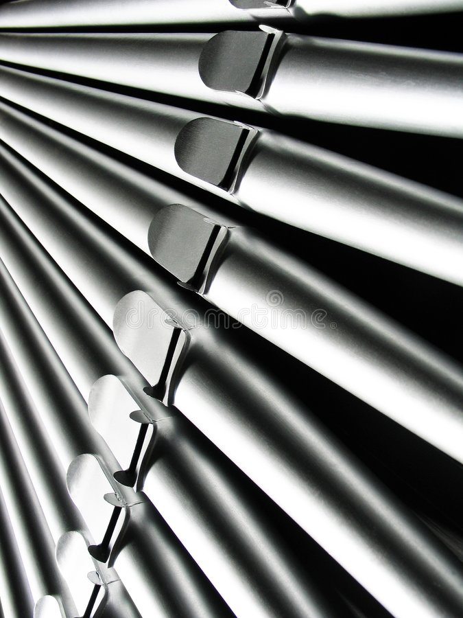 Pipes d'organe - plan rapproché photographie stock libre de droits