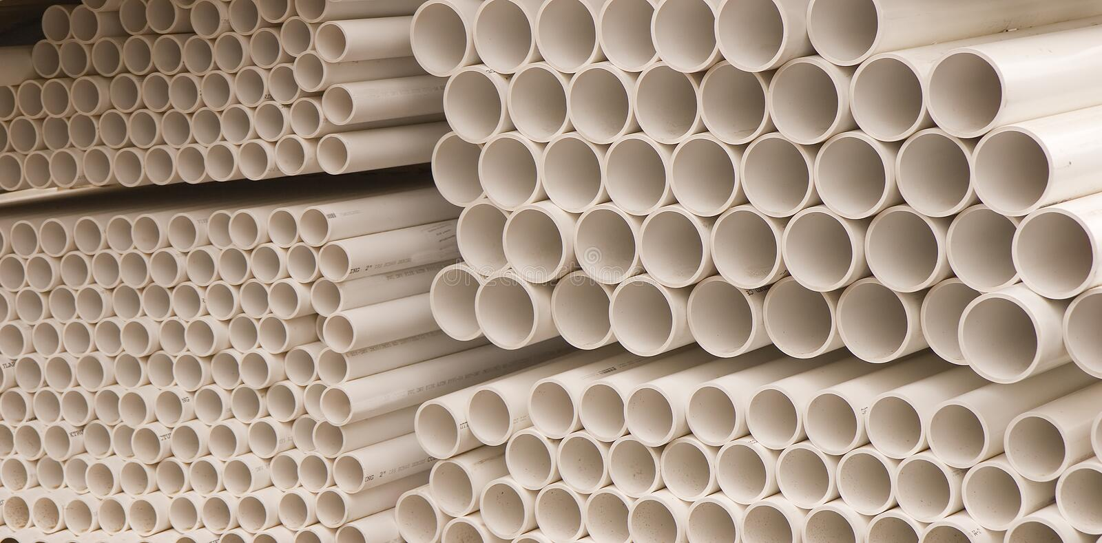 Pipes de PVC image stock