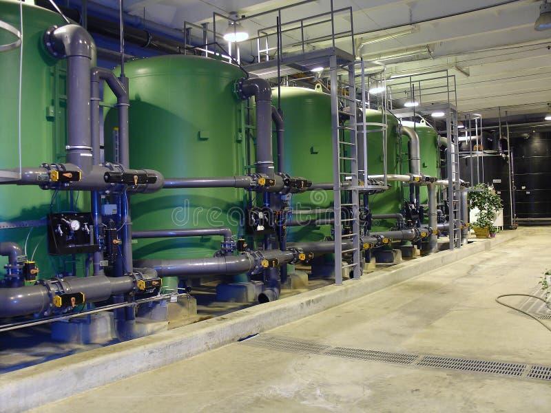 Pipes de traitement à l'eau images stock