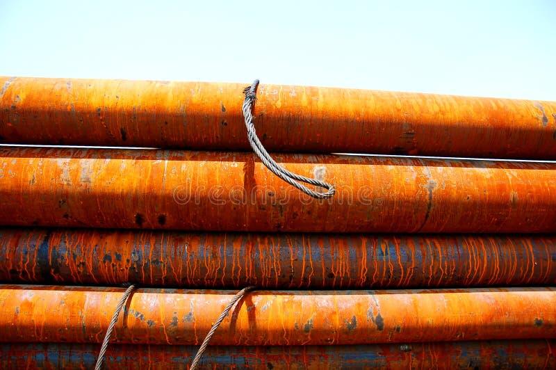 Pipes en acier photos libres de droits