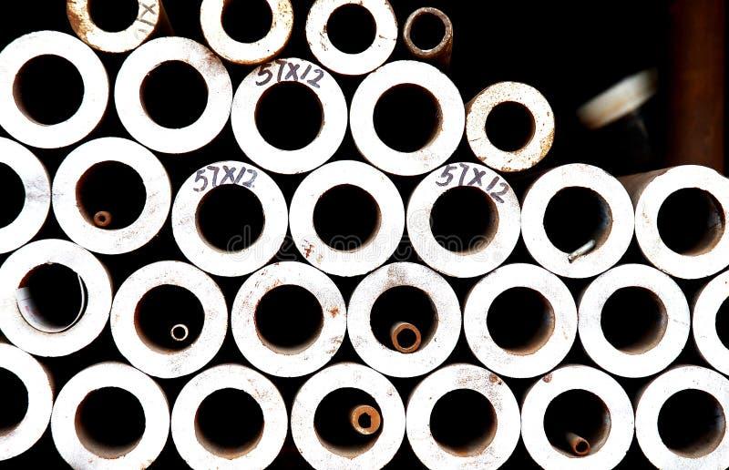 Pipes en acier photographie stock