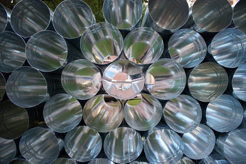 Pipes en métal photos stock
