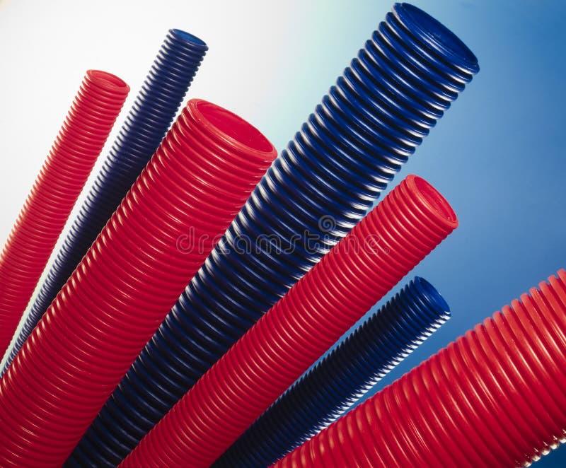 Pipes en plastique photo stock
