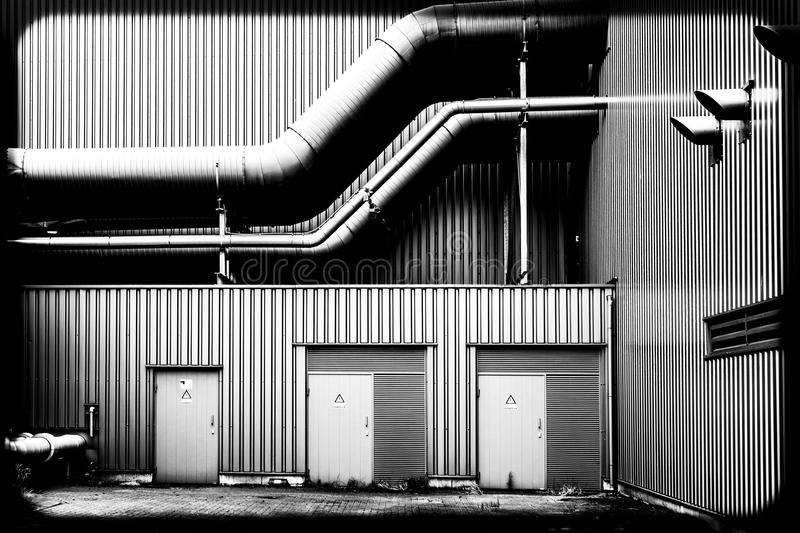 Pipes of a factory royalty free stock photos