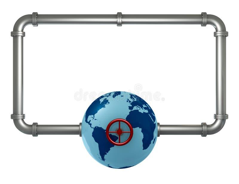 Pipes frame stock illustration