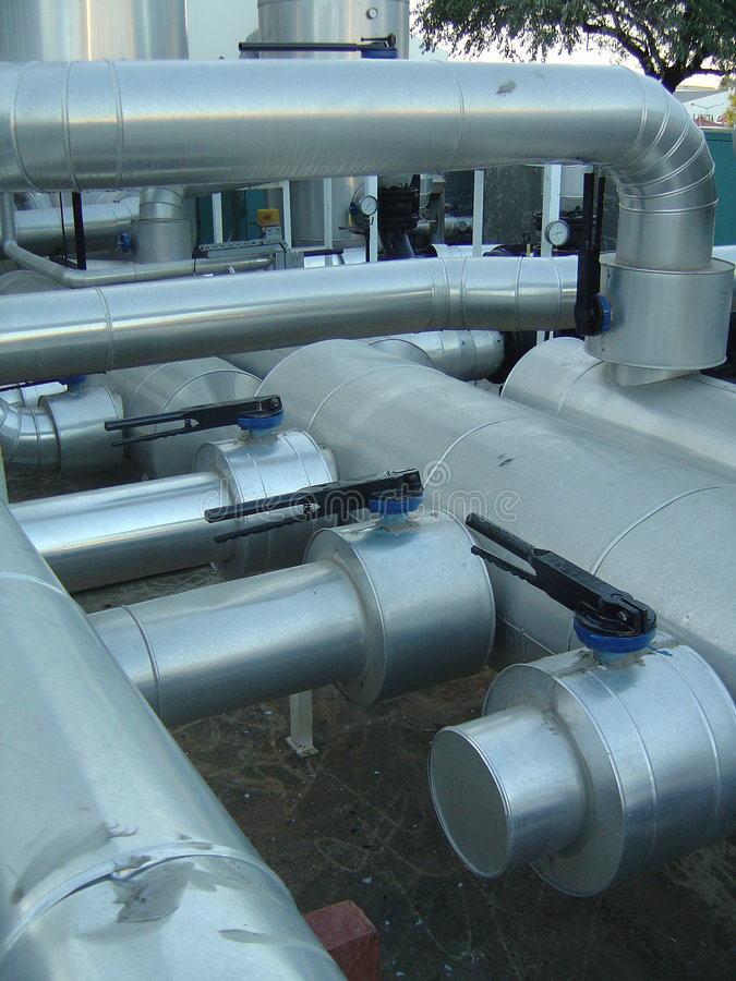 Pipes industrielles image stock