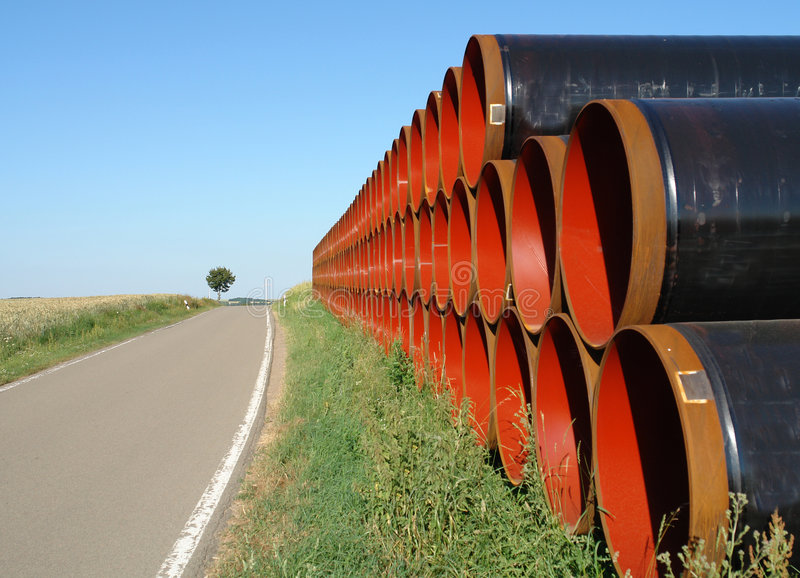 Pipes And Lone Tree Royalty Free Stock Photography
