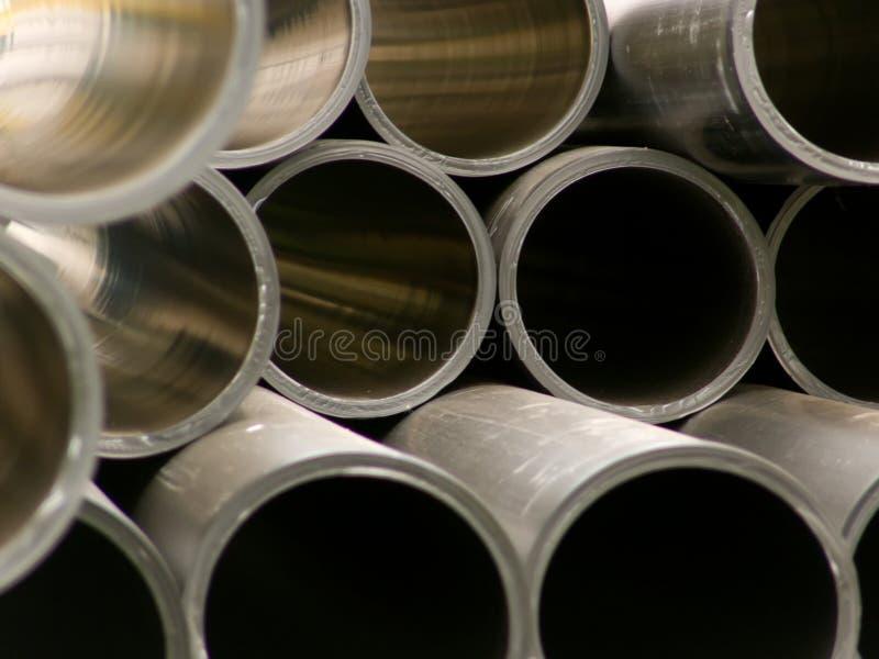pipes polymeric runt avsnittvatten royaltyfri fotografi