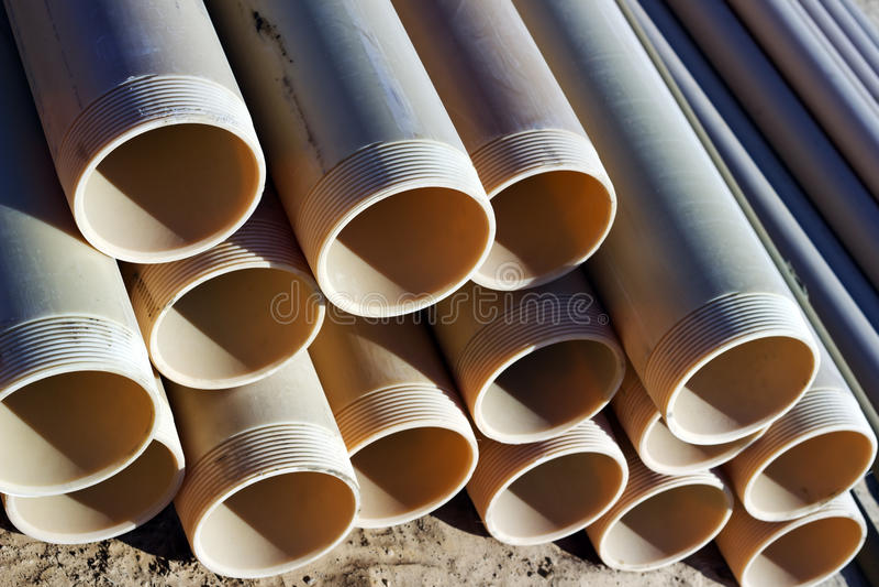 Pipes PVC stock photo