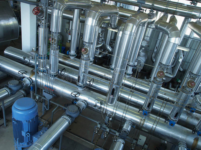 pipes rörventiler arkivfoto