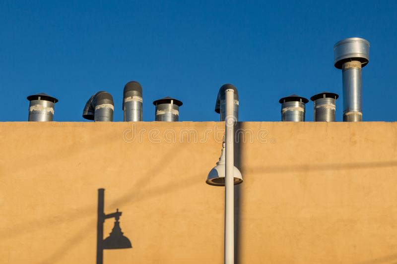 Pipes on a Rooftop royalty free stock images