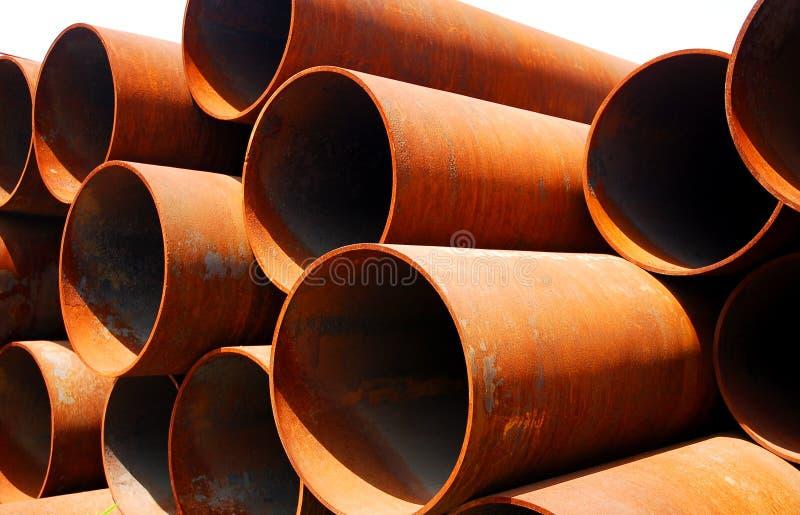 pipes stål arkivfoto