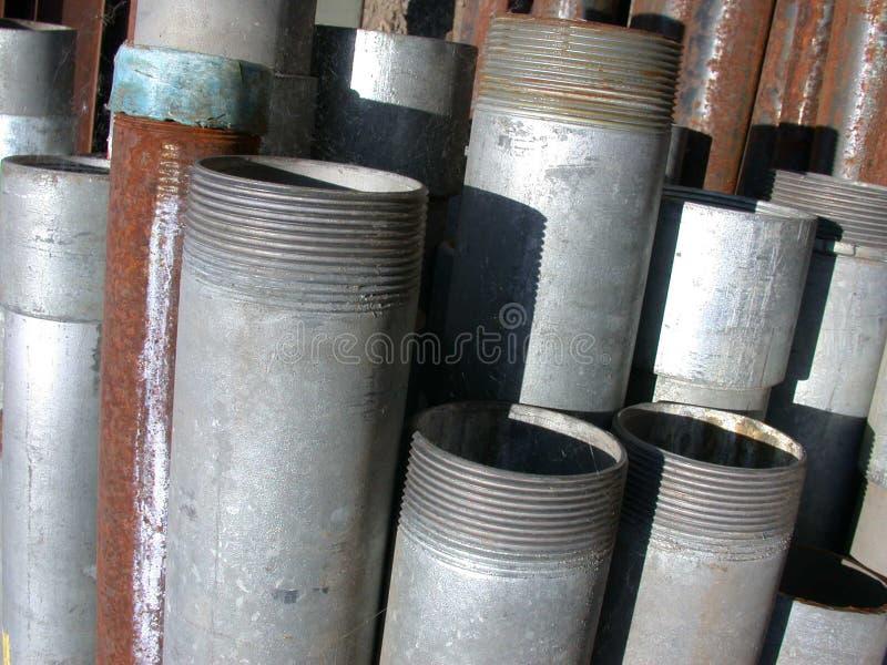 pipes stål royaltyfria foton
