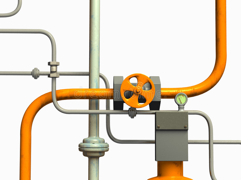 Pipes system stock illustration