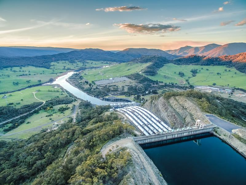 Pipes of Tumut hydroelectric power station. stock images