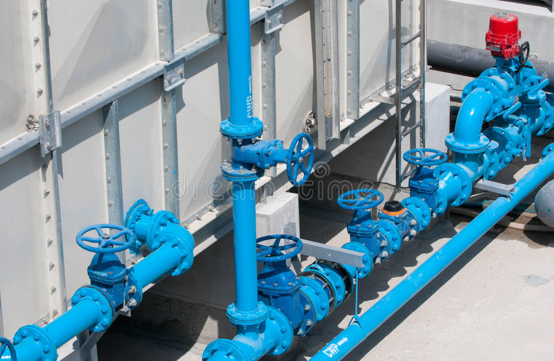 Pipes and valves royalty free stock photography