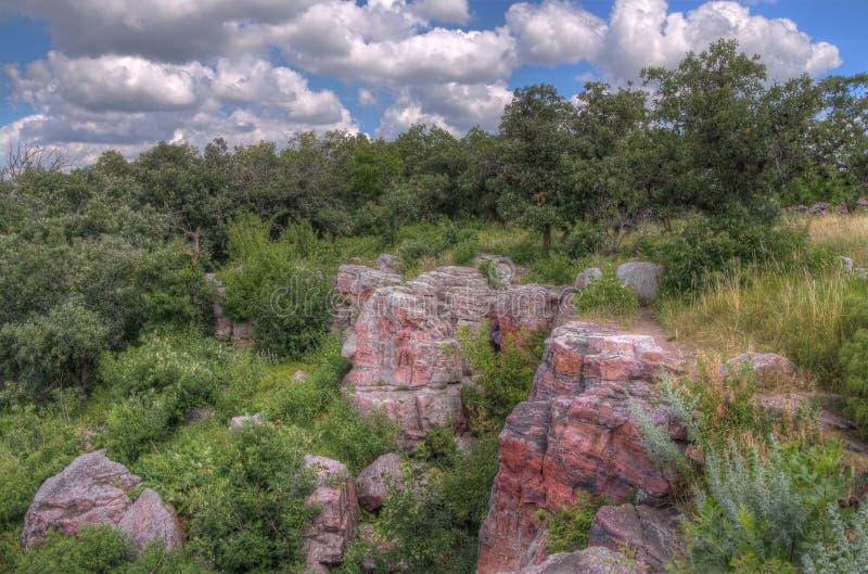 Pipestone Krajowy zabytek w Południowo-zachodni Minnestoa fotografia stock