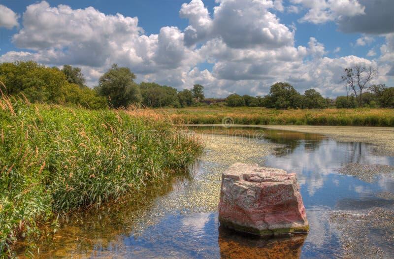 Pipestone Krajowy zabytek w Południowo-zachodni Minnestoa zdjęcie royalty free