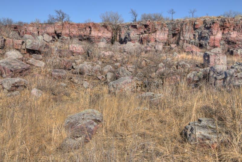 Pipestone Krajowy zabytek w Południowo-zachodni Minnestoa zdjęcia stock