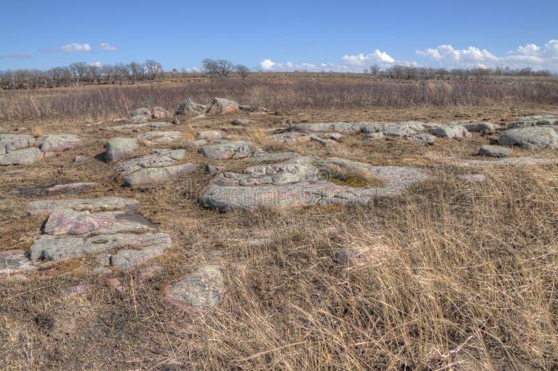 Pipestone Krajowy zabytek w Południowo-zachodni Minnestoa zdjęcie stock