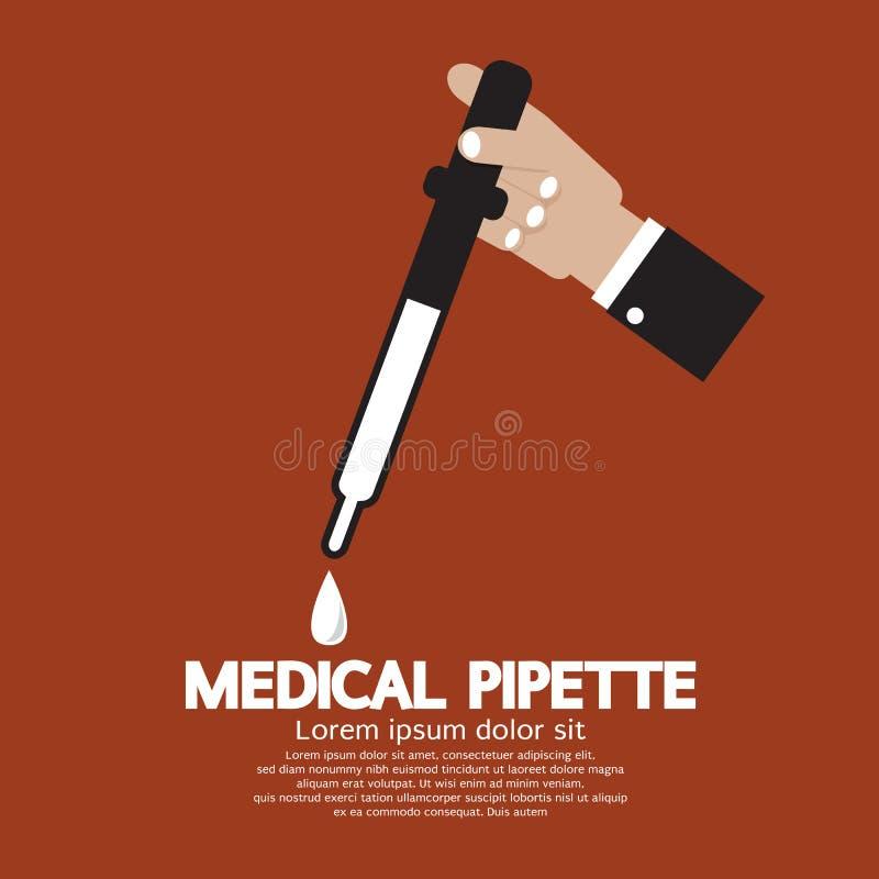Pipetta medica a disposizione illustrazione vettoriale