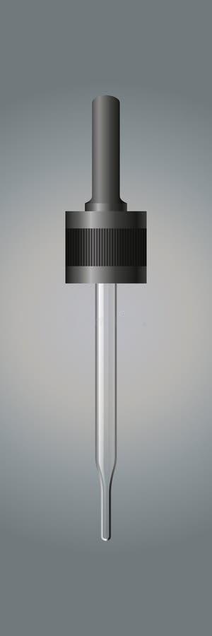 Pipetta su un fondo grigio Vettore illustrazione vettoriale