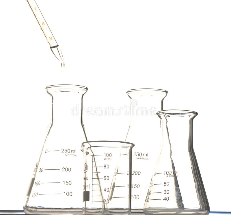 Download The pipette and beaker stock illustration. Image of education - 20158095
