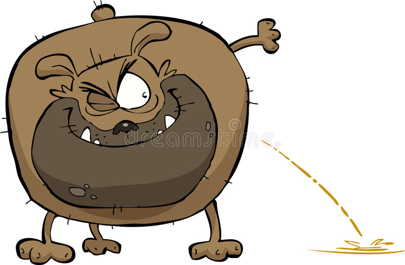 Pipi de crabot illustration libre de droits