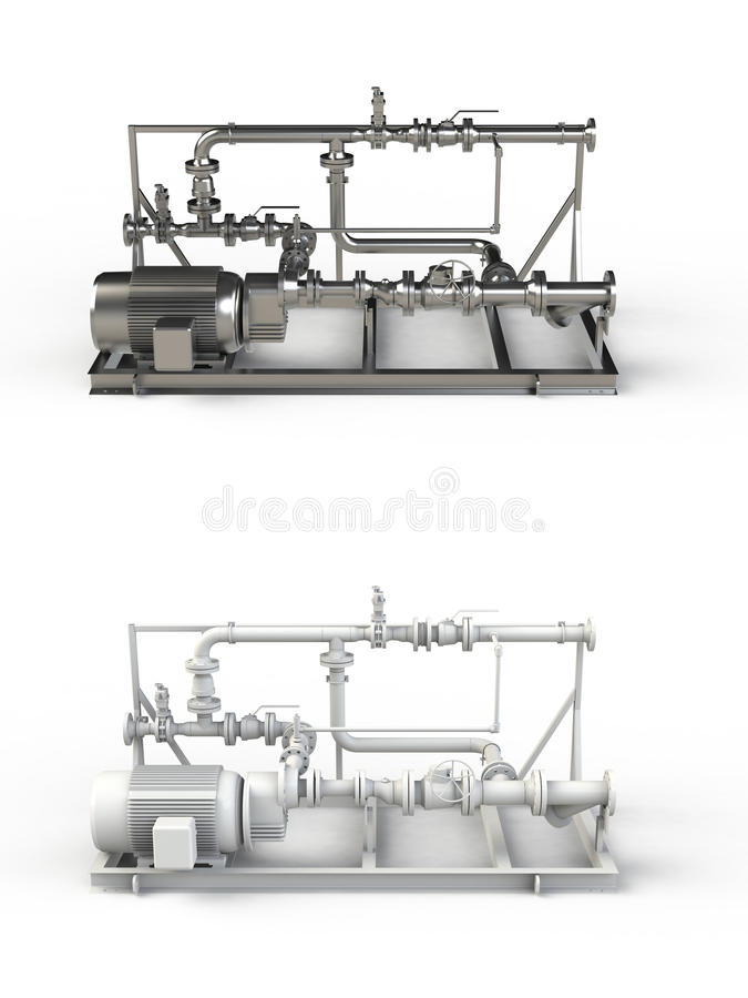 Piping. Abstract piping isolated on white stock illustration