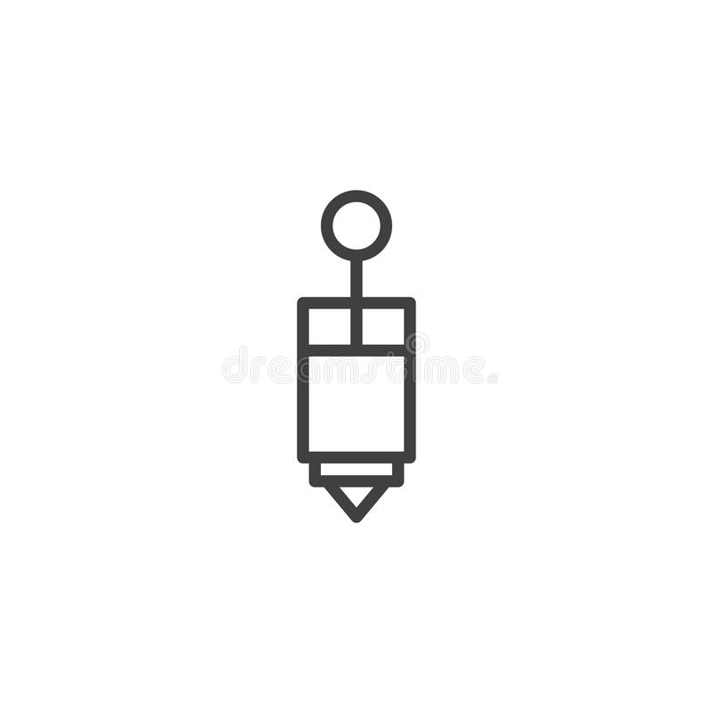 Piping bag outline icon. Linear style sign for mobile concept and web design. Pastry bag simple line vector icon. Symbol, logo illustration. Pixel perfect vector illustration