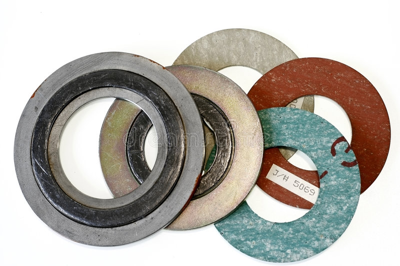 Piping Gasket. Use in the oil and gas industry royalty free stock photos