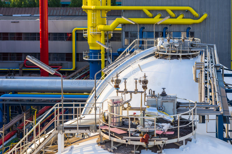 Piping system and container royalty free stock images