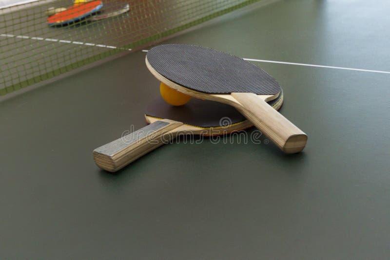 Pipistrelli di ping-pong fotografia stock