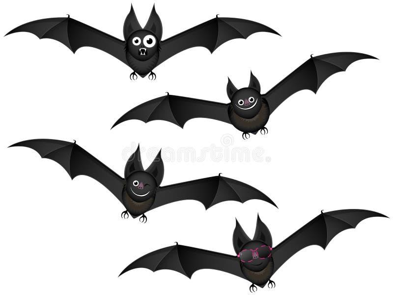 Pipistrelli in volo illustrazione di stock