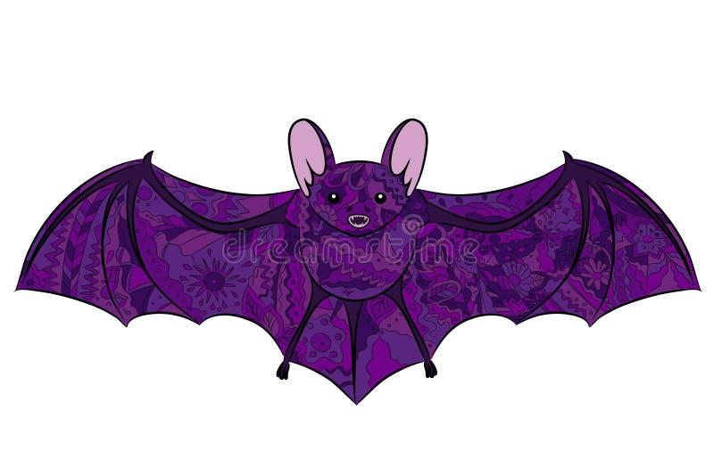 Pipistrello del disegno della mano royalty illustrazione gratis