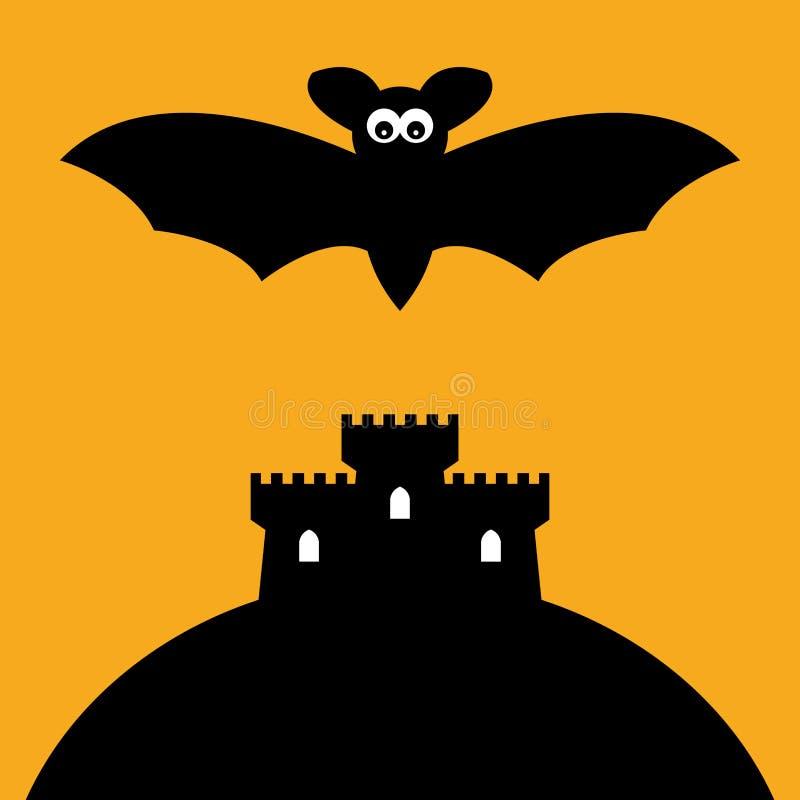 Pipistrello e castello del fumetto royalty illustrazione gratis