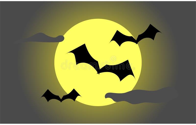 Pipistrello e luna fotografia stock libera da diritti