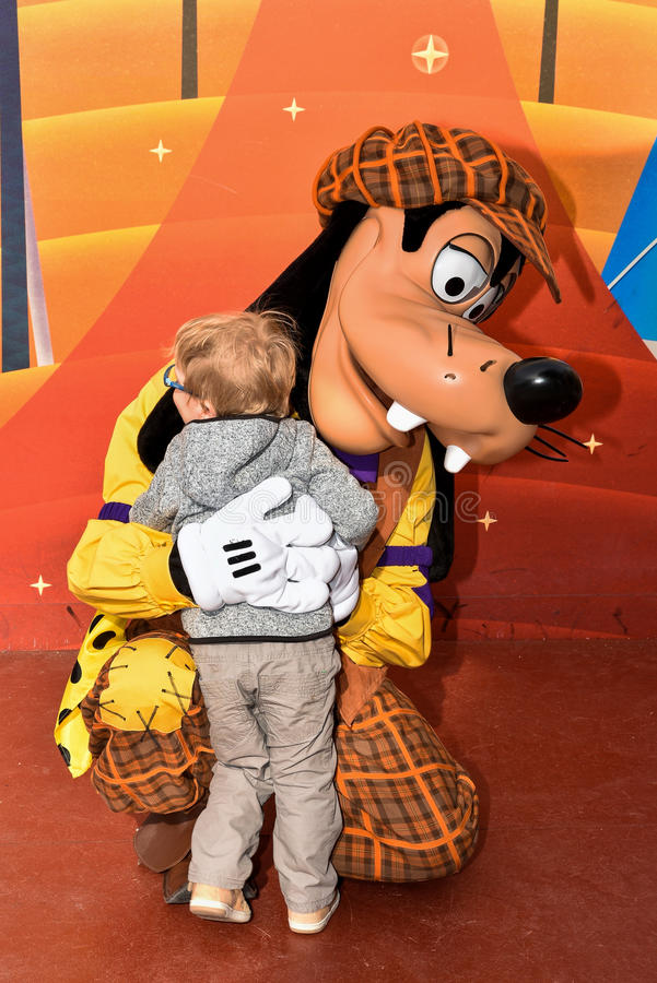 Pippo a Walt Disney Studios Park fotografia stock libera da diritti