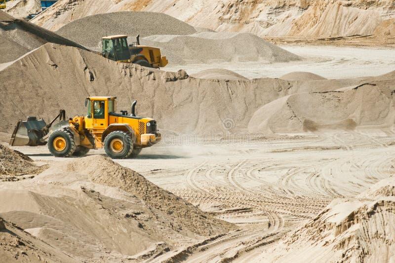 Piqûre de gravier - industrie minière photo stock