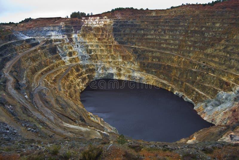 Piqûre ouverte de mine de pyrite photo stock