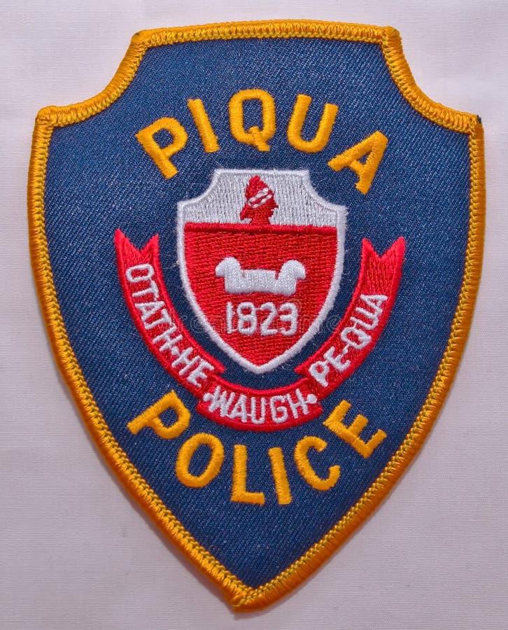Piqua警察局的肩章在俄亥俄 图库摄影