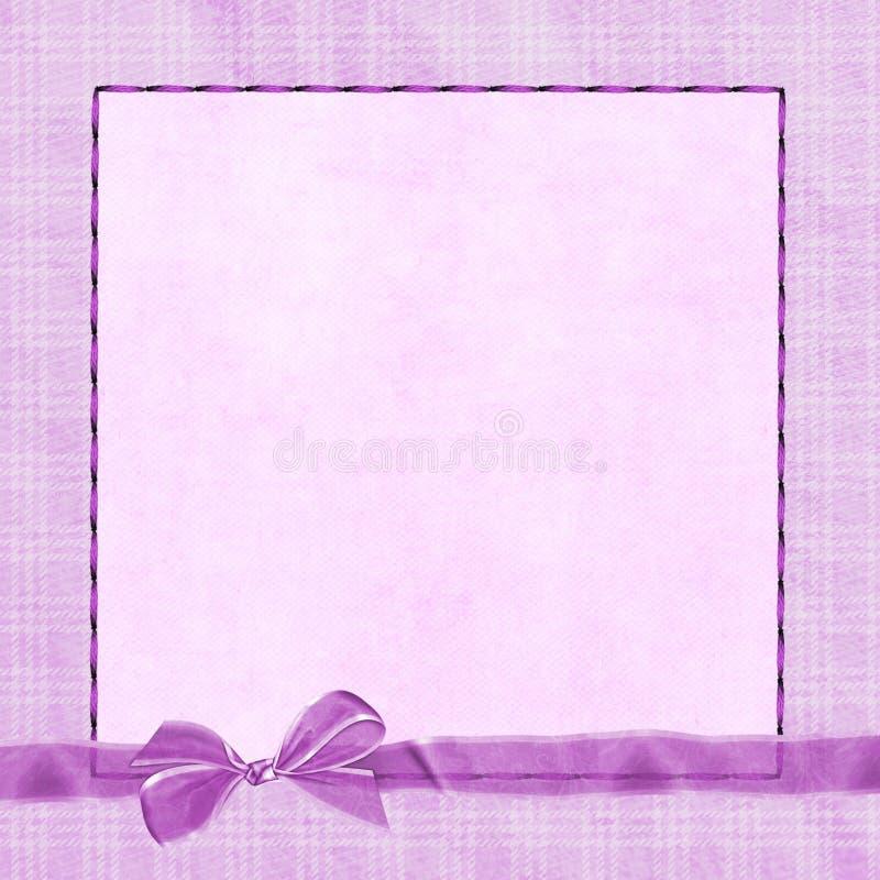 Pique el arqueamiento en la frontera de la tela escocesa ilustración del vector