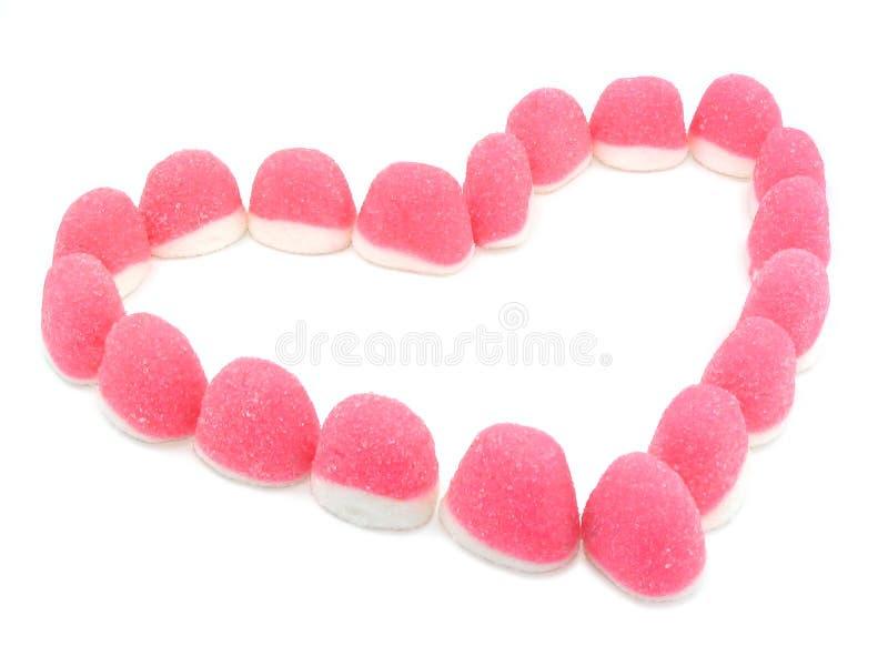 Pique el corazón de los caramelos fotografía de archivo libre de regalías