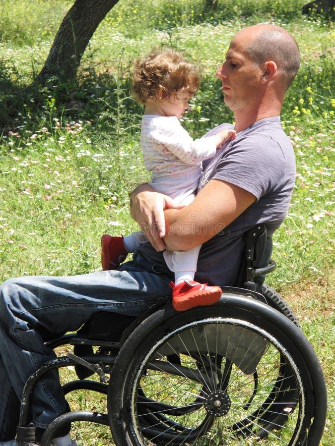 Pique-nique 3 de fauteuil roulant images libres de droits