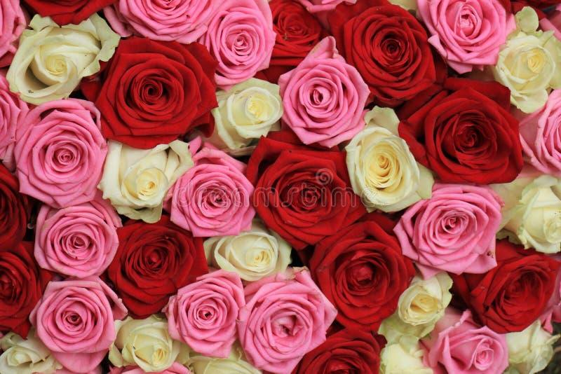Pique o ramalhete nupcial de Rosa foto de stock royalty free