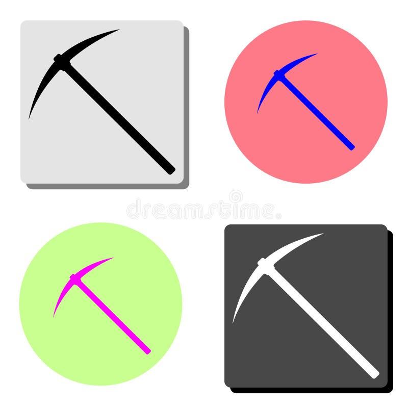 Piqueta Icono plano del vector ilustración del vector
