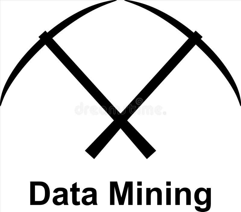 Piquetas cruzadas sobre minería de datos imagen de archivo